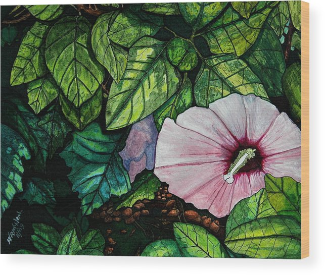 Landscape Wood Print featuring the painting Beauty In Bloom by Willie McNeal