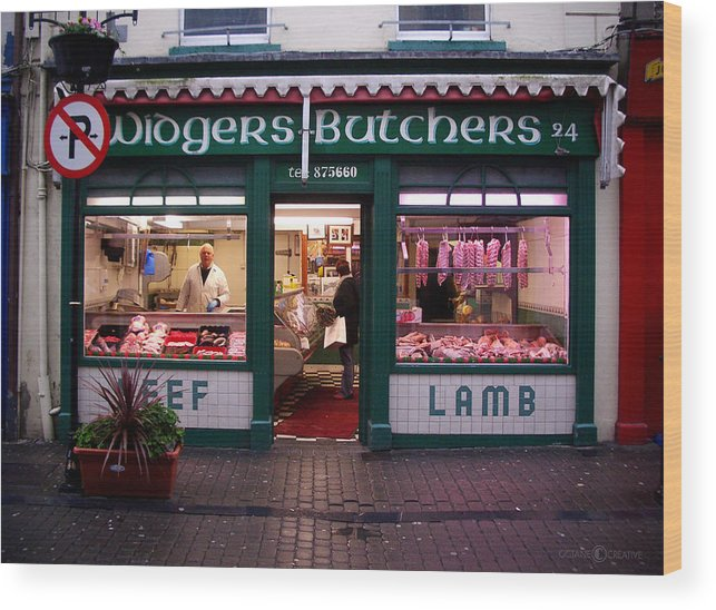 Butcher Wood Print featuring the photograph Beef Lamb by Tim Nyberg