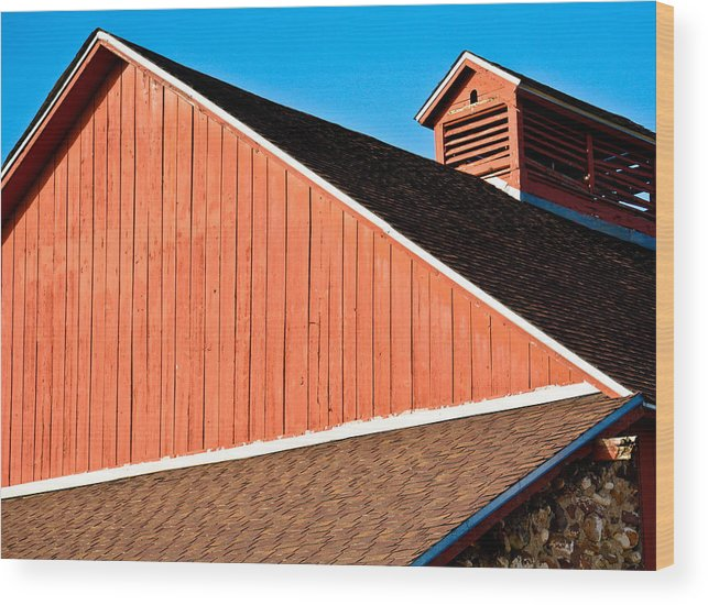 Americana Wood Print featuring the photograph Bright Red Barn by Marilyn Hunt