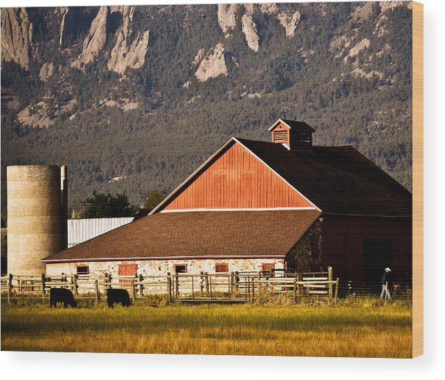 Americana Wood Print featuring the photograph Country Living Boulder County by Marilyn Hunt