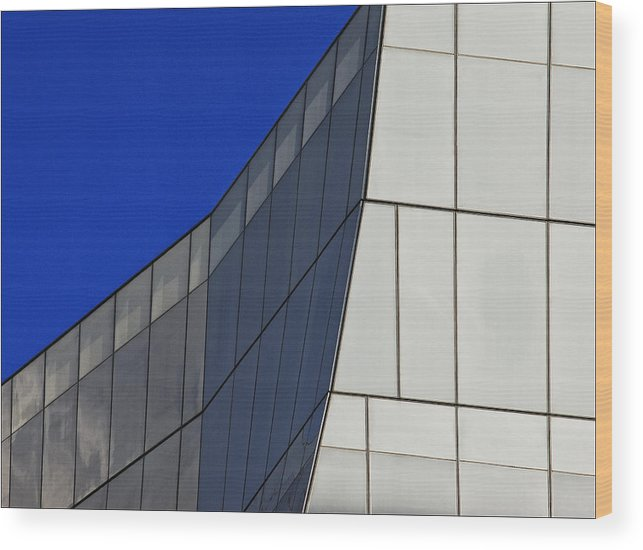 Architectural Detail Wood Print featuring the photograph Detail Frank Gehry Building Mnhattan by Robert Ullmann