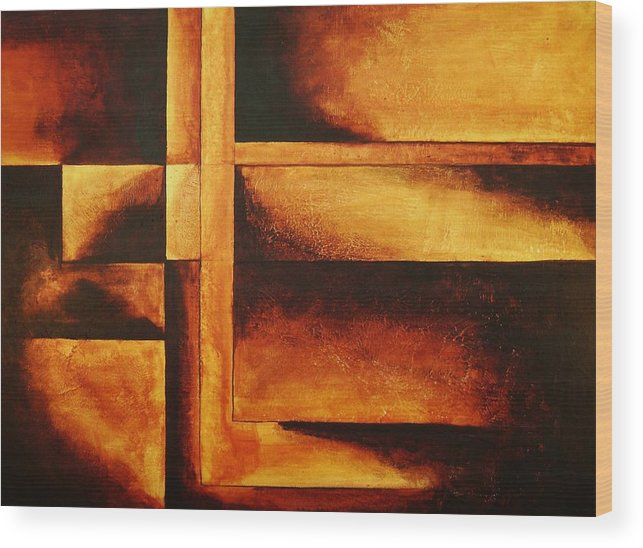 Modern Art Wood Print featuring the painting Equilibrio by Marco Solis
