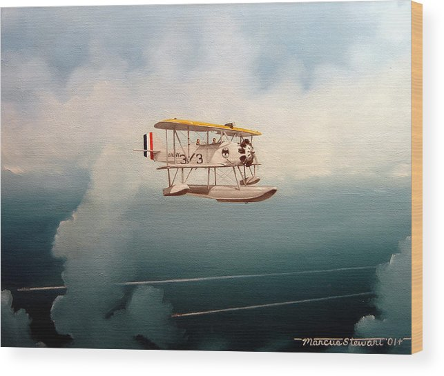 Military Wood Print featuring the painting Eyes Of The Fleet by Marc Stewart