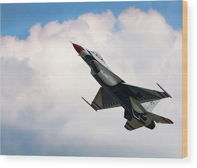 Aircraft Wood Print featuring the photograph F-16 Falcon by Murray Bloom