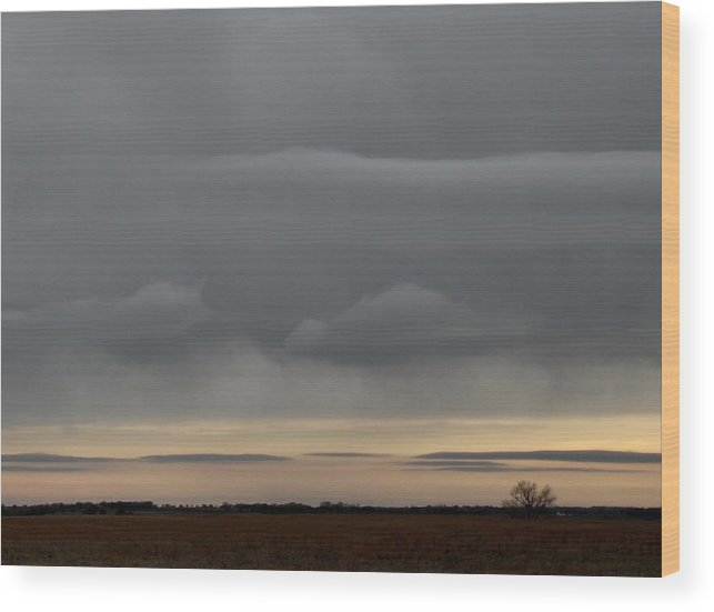 Grey Wood Print featuring the photograph Fantasy Clouds by Weathered Wood