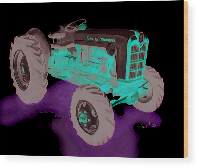 Ford Tractor Wood Print featuring the painting Ford Tractor by Ferrel Cordle