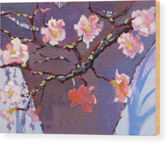 Blossom Wood Print featuring the painting Forest In Bloom by Robert Bissett
