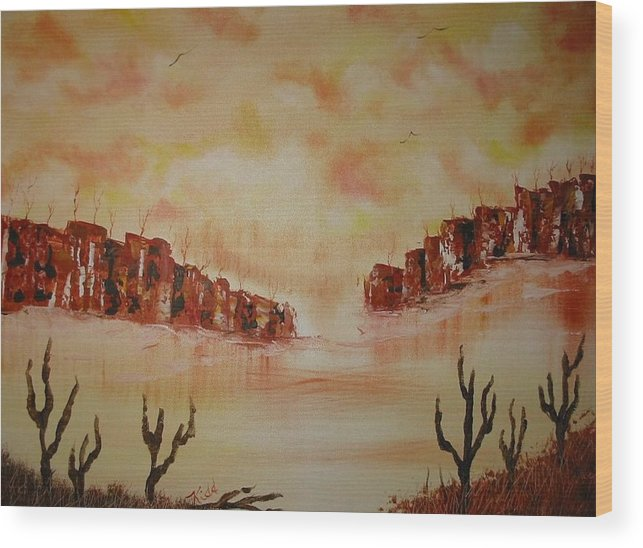 Acrylics Wood Print featuring the painting Gateway To Eternity by Laurie Kidd