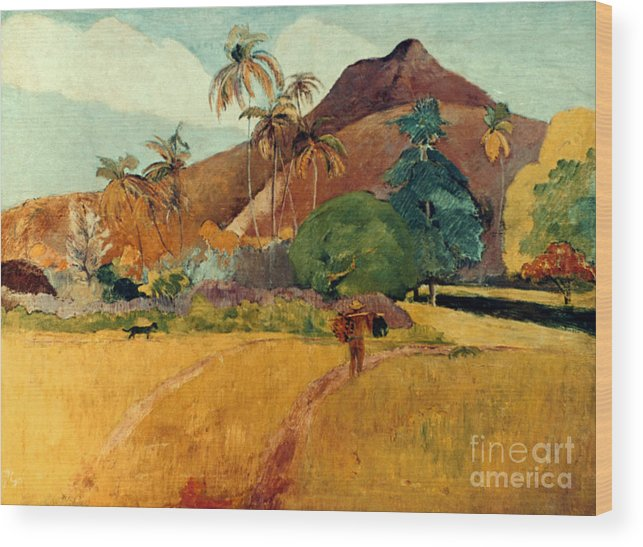 1891 Wood Print featuring the photograph Gauguin: Tahiti, 1891 by Granger