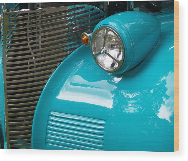 Car Wood Print featuring the photograph Grill by Dennis Campbell