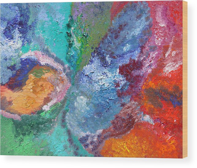 Fusionart Wood Print featuring the painting Hydrangea by Ralph White