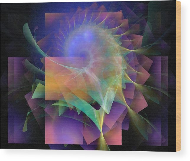 Abstract Wood Print featuring the digital art In What Far Place by NirvanaBlues