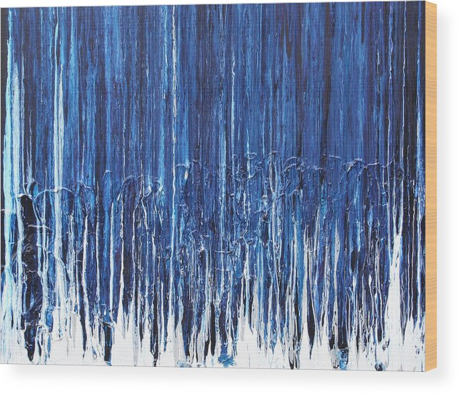 Fusionart Wood Print featuring the painting Indigo Soul by Ralph White