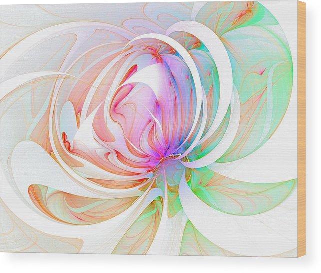 Digital Art Wood Print featuring the digital art Joy by Amanda Moore