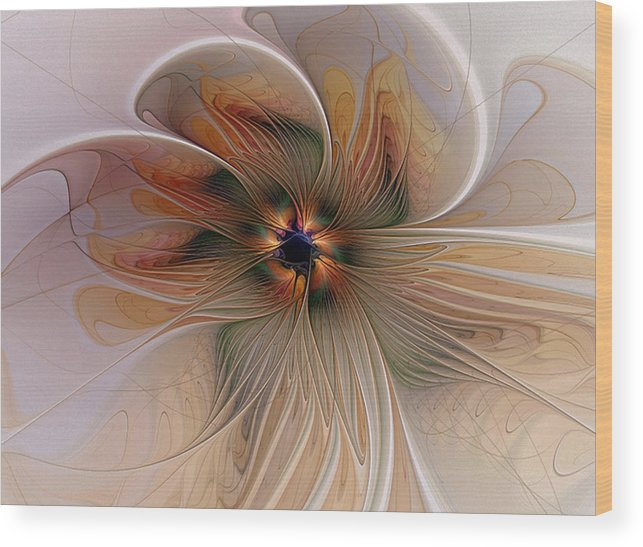 Digital Art Wood Print featuring the digital art Just Peachy by Amanda Moore