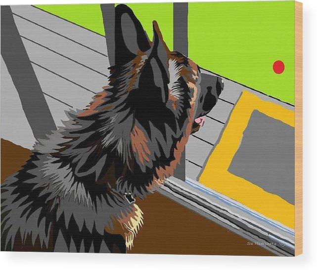 Gsd Wood Print featuring the digital art Keo by Su Humphrey