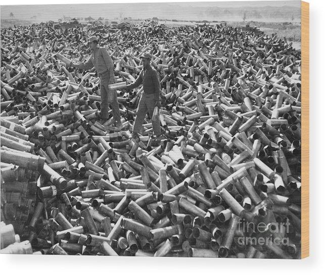 1952 Wood Print featuring the photograph Korean War: Shell Casings by Granger