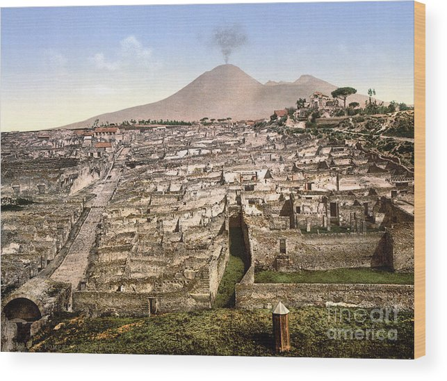 1890 Wood Print featuring the photograph Naples: Mt. Vesuvius by Granger