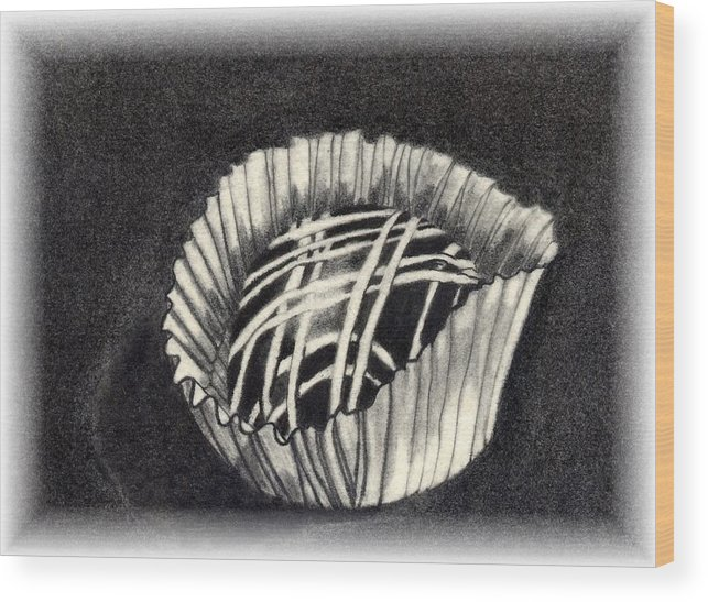 Food Wood Print featuring the drawing Oh Chocolate by Penny Everhart