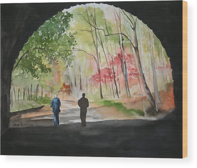 Road Wood Print featuring the painting On The Road To Nowhere by Jean Blackmer