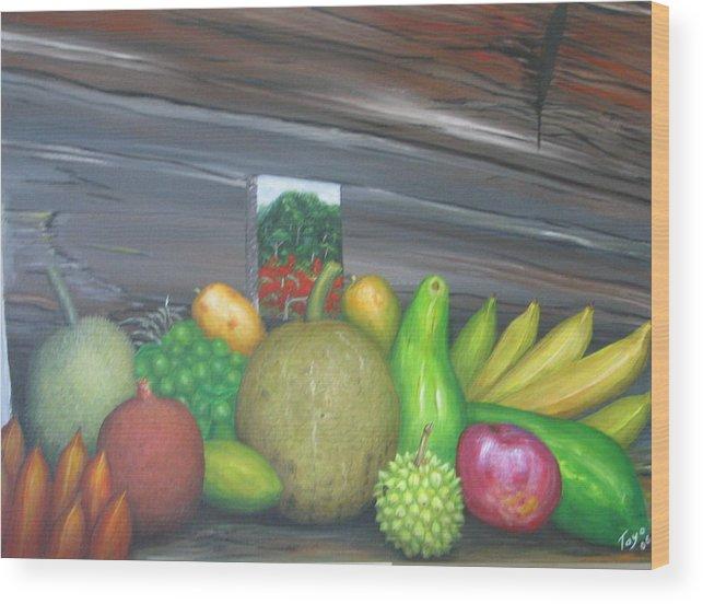 Frutas Wood Print featuring the painting Orgullo De Borinquen by Toyo Perez