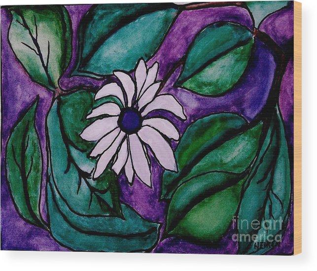 Painting Wood Print featuring the digital art Paradise Flower by Marsha Heiken