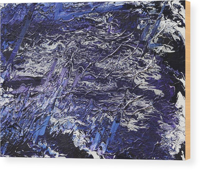 Fusionart Wood Print featuring the painting Rapid by Ralph White