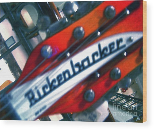 Guitars Wood Print featuring the photograph Rickenbocker by Sergio Geraldes