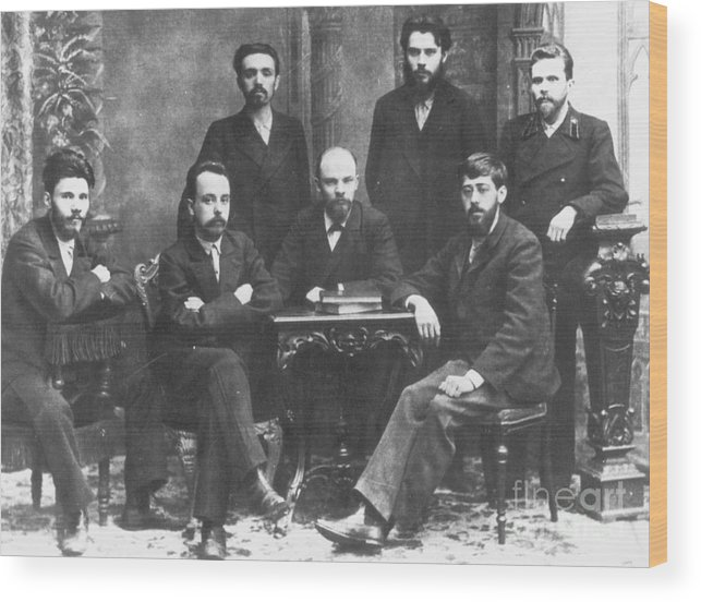 1897 Wood Print featuring the photograph Russian Marxists, 1897 by Granger