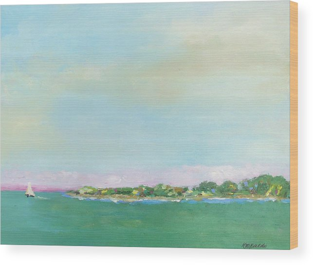 Sailboat Wood Print featuring the painting Sanibel Sailboat by Karen Fields