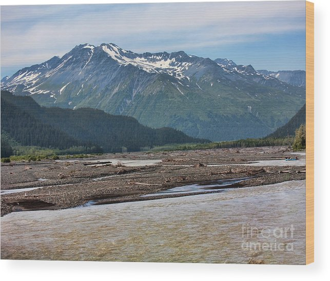 Alaska Wood Print featuring the photograph Scenic Alaska Color by Chuck Kuhn