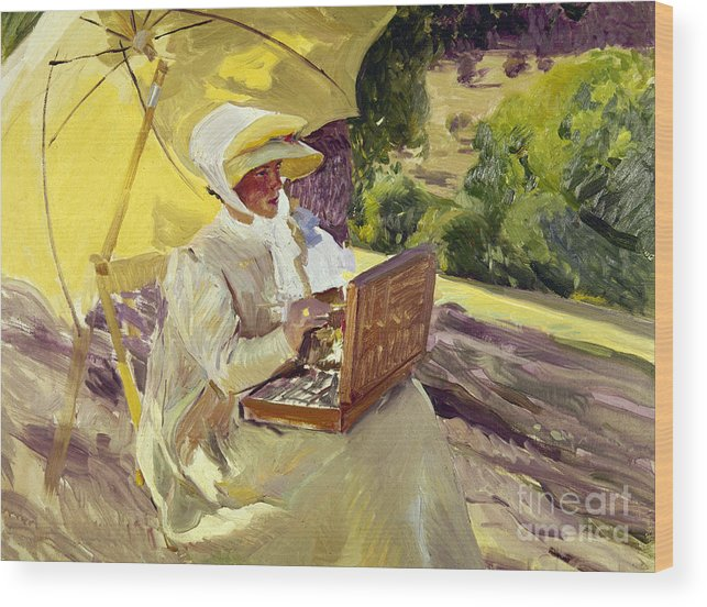 1907 Wood Print featuring the photograph Sorolla: Painter, 1907 by Granger