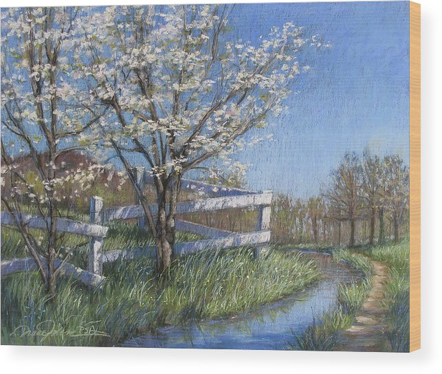 Pastel Painting Wood Print featuring the painting Spring Fare by L Diane Johnson