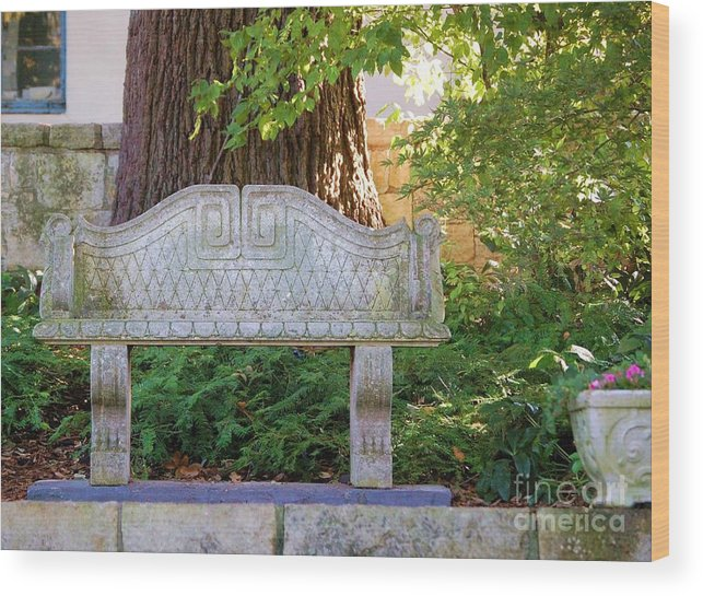 Bench Wood Print featuring the photograph Take A Break by Debbi Granruth