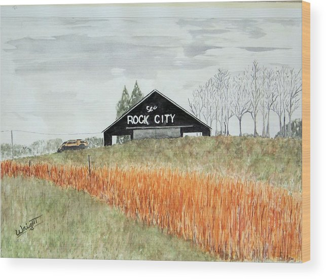 Barns Wood Print featuring the painting Tennessee Destination by Larry Wright