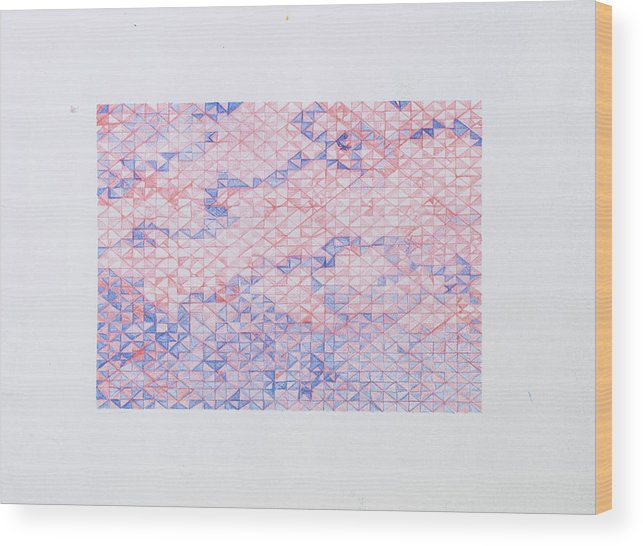 Geometric Wood Print featuring the drawing Tessellate by Fox Robison