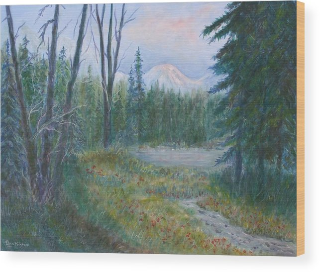 Landscape Wood Print featuring the painting Teton Valley by Ben Kiger