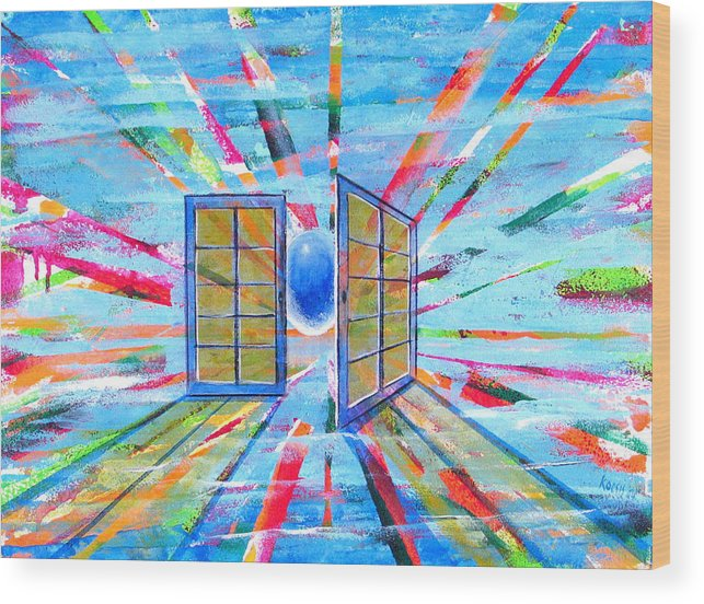 Spirt Wood Print featuring the painting These Open Doors by Rollin Kocsis