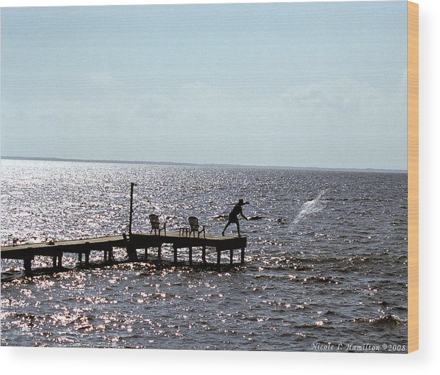 Fishing Wood Print featuring the photograph Throwing The Net by Nicole I Hamilton
