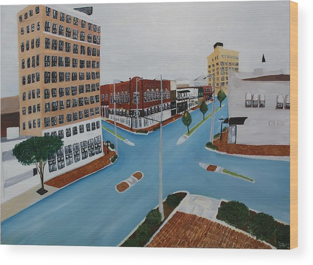 Tuscaloosa Wood Print featuring the painting Tushka Lusa by Tammy Dunn