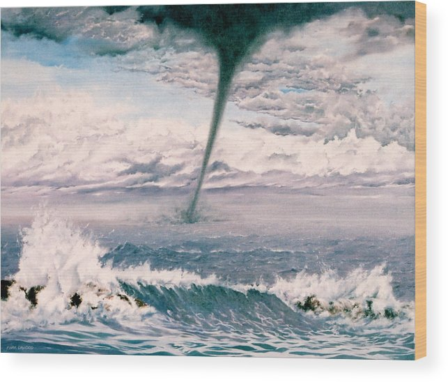 Seascape Wood Print featuring the painting Twisted Nature by Mark Cawood