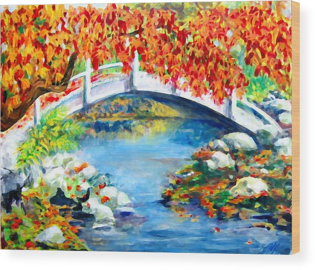 Painting Wood Print featuring the photograph Vermont Bridge by Lyn Vic