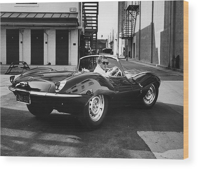 Timeincown Wood Print featuring the photograph Steve Mcqueen by John Dominis