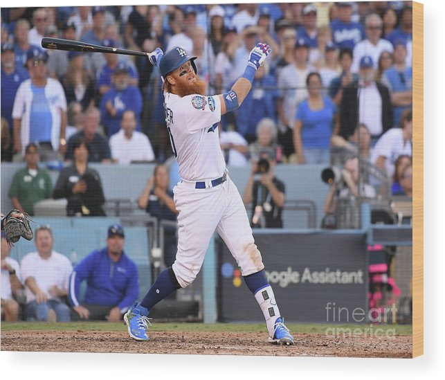People Wood Print featuring the photograph Justin Turner by Harry How
