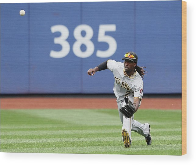 American League Baseball Wood Print featuring the photograph Andrew Mccutchen by Alex Trautwig
