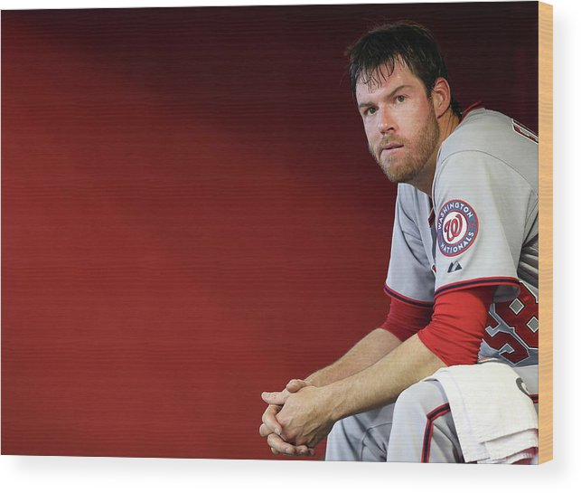Doug Fister Wood Print featuring the photograph Doug Fister by Christian Petersen