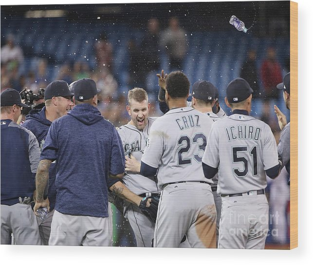 People Wood Print featuring the photograph James Paxton by Tom Szczerbowski