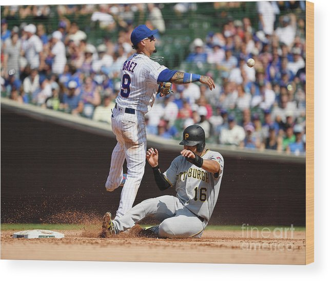 People Wood Print featuring the photograph Javier Baez And Jung Ho Kang by Quinn Harris