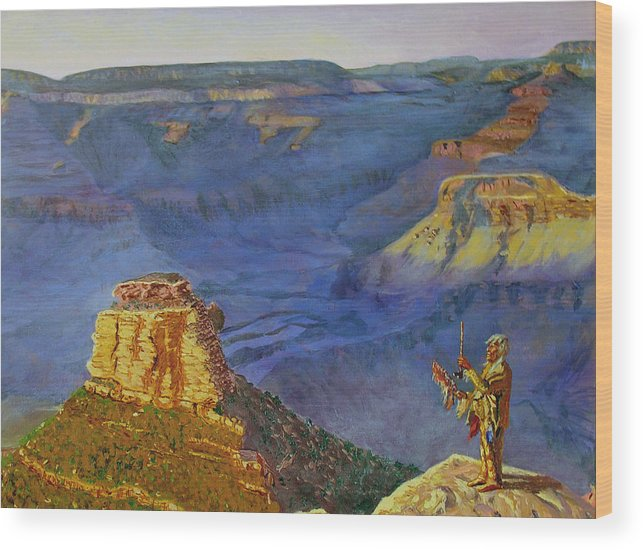 Grand Canyon Wood Print featuring the painting Grand Canyon V by Stan Hamilton