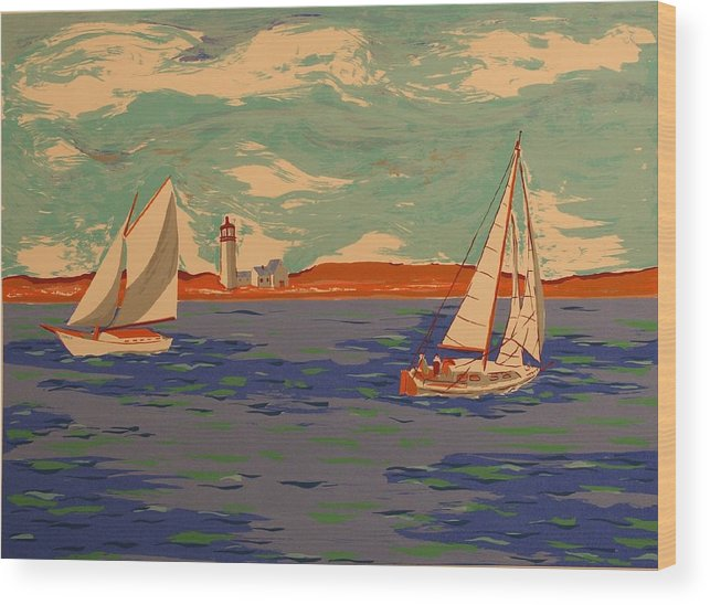 Wood Print featuring the print Along The Coast by Biagio Civale
